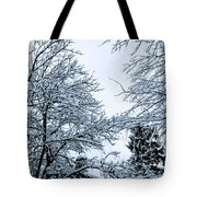 Trees With Snow Tote Bag