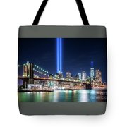 Tribute In Light From Brooklyn 1 Tote Bag