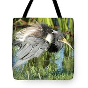 Tricolored Heron With Ruffled Feathers Tote Bag