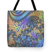 Trippy Vibrant Fractal  Tote Bag