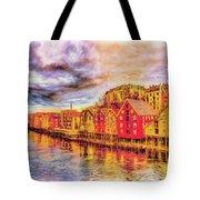 Trondheim - Waterfront Evening Tote Bag