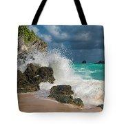 Tropical Beach Splash Tote Bag