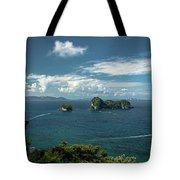 Tropical Island In The Ocean Tote Bag