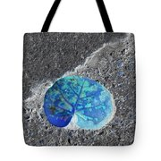 Tropical Leaf In Abstract Tote Bag