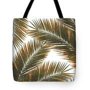 Tropical Palm Leaf Pattern 6 - Tropical Wall Art - Summer Vibes - Modern, Minimal - Brown, Copper Tote Bag