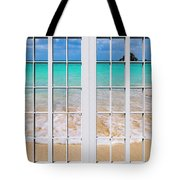 Tropical Paradise Beach Day Windows Tote Bag