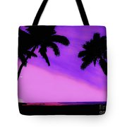 Tropical Pink Sunset Tote Bag