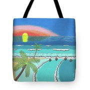 Tropical Sunrise Tote Bag by John Wiegand