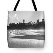Tuna Punta Lighthouse Black And White Tote Bag