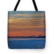Tundra Swan Niagara Sunset Tote Bag