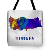 Turkey, Map, Artist Singh Tote Bag