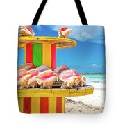 Turks And Caicos Conchs On A Spool Tote Bag