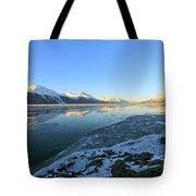 Turnagain Arm In Winter Alaska Tote Bag