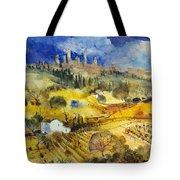 Tuscan Landscape - San Gimignano Tote Bag