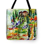 Tuscan Sunset Italian Hillside Landscape Tote Bag
