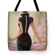 Twenty Pearls N Pink Roses Tote Bag