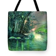 Twilight At The River Rhine Tote Bag