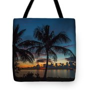 Twin Palms Sunrise Tote Bag by Tom Claud