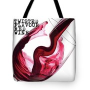 Twisted Flavour Red Wine Tote Bag by ISAW Company