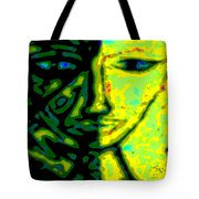 Two Faces - Green - Female Tote Bag