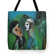 Two Men In A Field Tote Bag