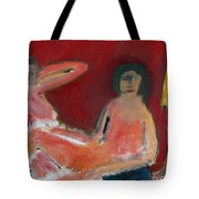 Two Nudes By A Lamp Tote Bag