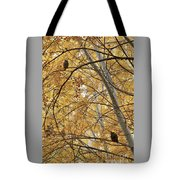 Two Owls In Autumn Tree Tote Bag