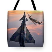Typhoon And Spitfire Synchro-pair Display Team Tote Bag