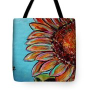 Sunflower With Bee Tote Bag by Jacqueline Athmann