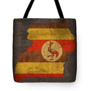 Uganda Country Flag Map Tote Bag