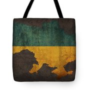 Ukraine Country Flag Map Tote Bag