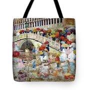 Umbrellas In The Rain - Digital Remastered Edition Tote Bag
