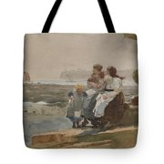 Under The Cliff, Cullercoats , 1881 Tote Bag