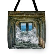 Under The Pier Manhattan Tote Bag by Michael Hope