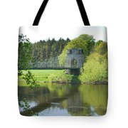 Union Chain Bridge At Horncliffe On River Tweed Tote Bag