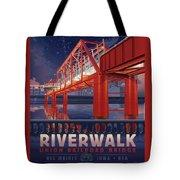 Union Railroad Bridge - Riverwalk Tote Bag by Clint Hansen
