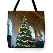 Union Station Decorates For Christmas In Kansas City Tote Bag
