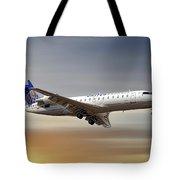 United Express Bombardier Crj-200lr Tote Bag