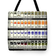 United States Armed Forces Enlisted Rank Insignia Tote Bag
