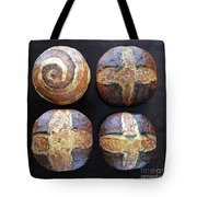 Unprocessed Wheat Bran Sourdough With Honey - Cross And Spiral Set 1 by Amy  E Fraser