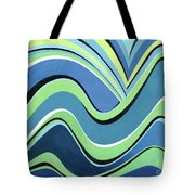 Untitled  Abstract Blue And Green Tote Bag