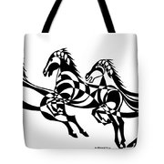 Untitled  Three Horses Tote Bag