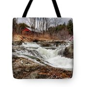 Upper Cox Brook Fall Covered Bridge Tote Bag