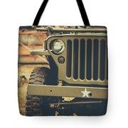 Us Army Jeep World War II Tote Bag