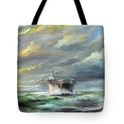 Uss Enterprise Returns To Pearl Tote Bag
