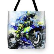 Valentino Rossi - 18 Tote Bag