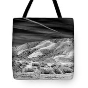 Valley Of Fire Black White Nevada  Tote Bag