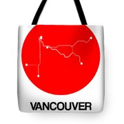 Vancouver Red Subway Map Tote Bag