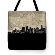 Vancouver Skyline Map Tote Bag