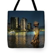 Vancouver Sunset Tote Bag by Juan Contreras